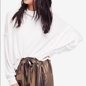 Free People Ivory Dolman Sleeve Turtleneck Sweater